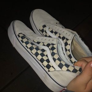 White RARE vans off the wall